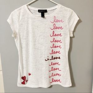 "INC International Concepts ""Love"" T Shirt"